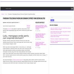 Panduan Terlengkap Mencari Domain Expired Yang Berkualitas & Mudah