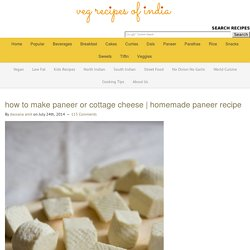 how to make paneer, simple steps to make paneer