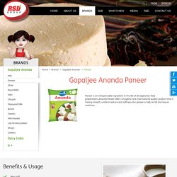 Get the most popular paneer recipes from Gopaljee Ananda