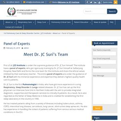 Dr. Suri Panel of Experts