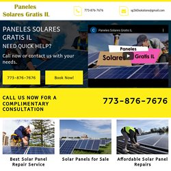 Solar Panel Repair Service-Paneles Solares Gratis IL, solar panel repairing Montgomery IL