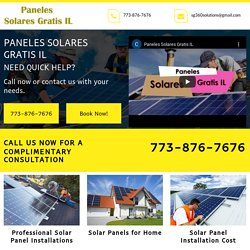 Paneles Solares Gratis IL, solar panel installation Oakland IL