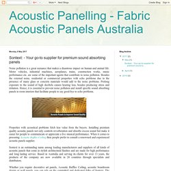 Sontext: Your go-to supplier for premium sound absorbing panels