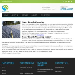 Solar Panels Cleaning Surrey - Window Cleaner Woking