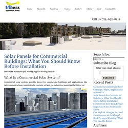 Solar Panels for Commercial Buildings: What You Should Know
