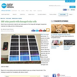 How to Make Inexpensive DIY Home-Built Solar Panels with Damaged Solar Cells from Ebay