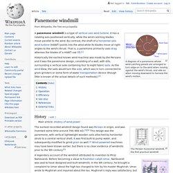 Panemone windmill