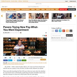 Panera Trying New Pay-What-You-Want Experiment
