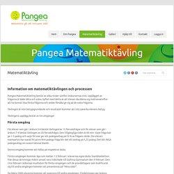 Pangea Matematiktävling » Matematiktävling