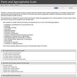 Panic and Agoraphobia Scale (PAS)