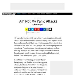 I Am Not My Panic Attacks