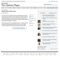 Krugman: Panic of the Plutocrats NYTimes