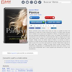 Pánico - Descargar epub gratis - Bajaebooks