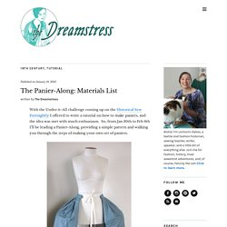 The Panier-Along: Materials List - The Dreamstress