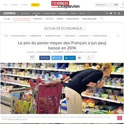 Le prix du panier moyen des Français a (un peu) baissé en 2014