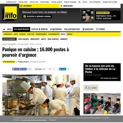 Panique en cuisine : 16.000 postes à pourvoir d'urgence