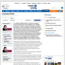 La panique Piketty - RTBF Chroniques Paul Krugman