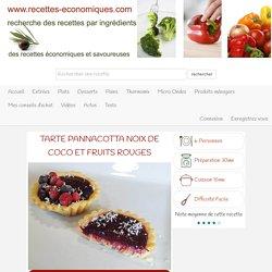 Tarte pannacotta noix de coco et fruits rouges