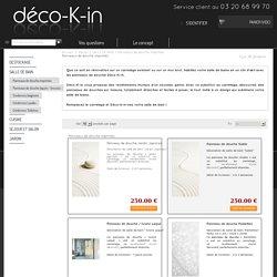 Panneau pour douche - Décoration intérieure - Salle de bain - Décokin - Déco-K-in