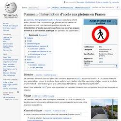 Panneau d'interdiction d'accès aux piétons en France