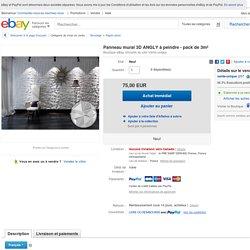 Panneau Mural 3D Angly À Peindre Pack DE 3M²
