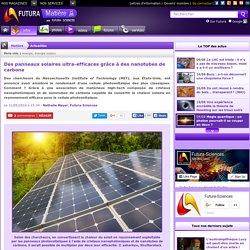 Des panneaux solaires ultra-efficaces grâce à des nanotubes de carbone