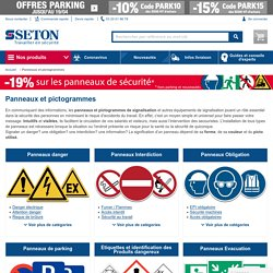 Panneaux et pictogrammes de sécurité