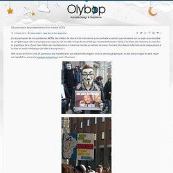 25 panneaux de protestations fun contre ACTA