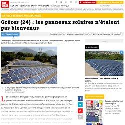 Grèzes (24) : les panneaux solaires n'étaient pas bienvenus