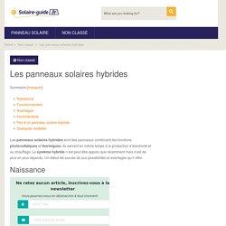 Les panneaux solaires hybrides - Solaire Guide