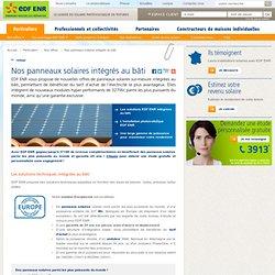 Panneaux solaires intégrés au bâti : nos offres