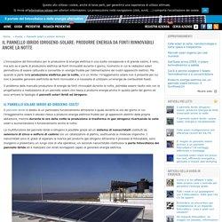 Il pannello ibrido idrogeno-solare: produrre energia anche la notte