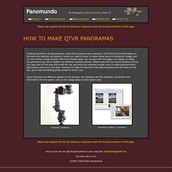 How to Make QTVR Panoramas