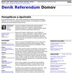 Adéla Hořejší: Panoptikum u Apolináře