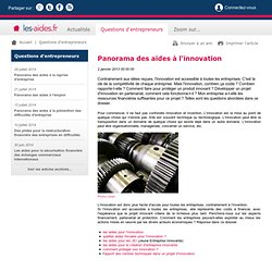 Panorama des aides à l'innovation