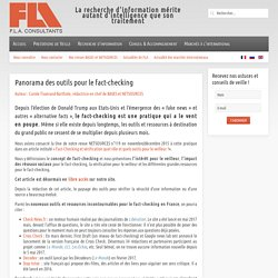 Panorama des outils pour le fact-checking - FLA Consultants