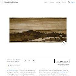 Claude Lorrain (1600–1682) —Paysage de Sasso - Dessin et aquarelle