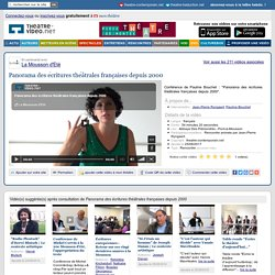 Panorama des écritures théâtrales françaises depuis 2000