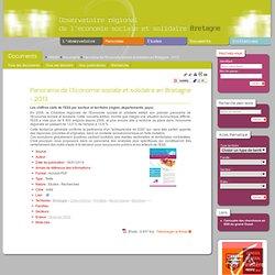 Panorama de l'Economie sociale et solidaire en Bretagne - 2013