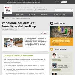 Panorama des acteurs franciliens du handicap