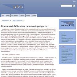 Panorama de la literatura catalana de postguerra