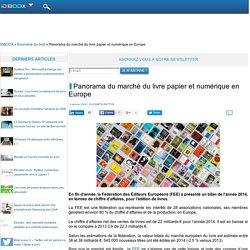 Panorama du marché du livre papier et numérique en Europe
