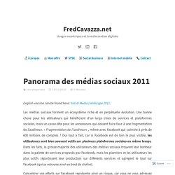 Panorma médias sociaux 2011