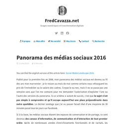 Panorama des médias sociaux 2016