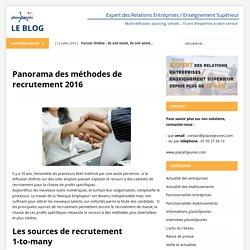 Panorama des méthodes de recrutement 2016 - LE BLOG