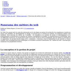 Panorama des métiers du web