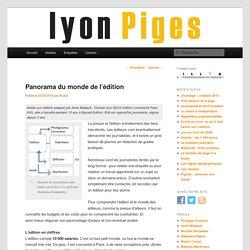 Panorama du monde de l'édition
