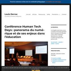 Louis Derrac - Panorama du numérique et de ses enjeux dans l'éducation