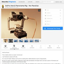 GoPro Hero3 Panorama Rig - No-Parallax by klakar