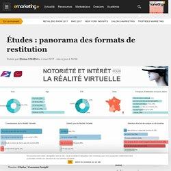 Études : panorama des formats de restitution - Etudes / Consumer Insight